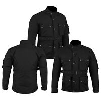 New Motorcycle Textile Cordura Waterproof Long Coat Removable Armour Protector