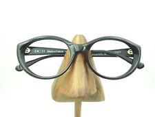 Vintage Diane Capt DC11 Black Oval Cat Eye Eyeglasses Sunglasses Frames France