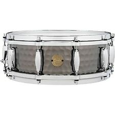 Gretsch Drums Hammered Black Steel Snare Drum - 5 Inches X 14 Inches
