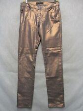 A7472 Rock & Republic Golden Brown Stretch High Grade Skinny Jeans Women 31x31