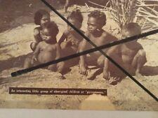 Vintage original Photo Postcard Australian Aboriginal Children Semi Tribal Bush