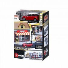 Bburago Build Your City - Kiosk Bausatz 1:43 mit Mini Cooper S