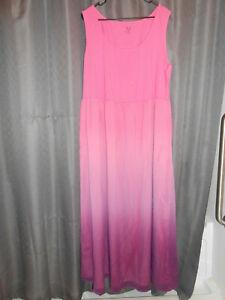 Isaax Mizrahi Womens Sleeveless Tank Top Long Dress Summer Casual Maxi Dress 2XL