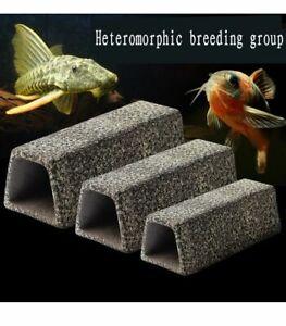 Fish Tank Breeding Pot Ceramic Cave Aquarium Ornaments Aquatic Pets Hiding Caves