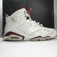 Nike Air Jordan 6 VI Retro Maroon Size 11.5 off white 384664 116 red infrared