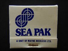SEA PAK A UNIT OF MAYNE NICKLESS LTD LAUNCESTON 24460 MATCHBOOK