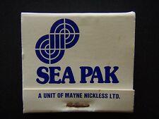 SEA PAK A UNIT OF MAYNE NICKLESS LTD LAUNCESTON 24460 MATCHBOOK
