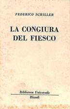 """[598] BUR ed. Rizzoli 1968 n.  2339 Schiller """"La congiura del Fiesco"""""""