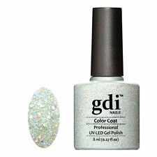 Diamond Glitter Nail GEL Polish by GDI Nails London UV LED Soak 8ml Post K19 - Crown Jewels