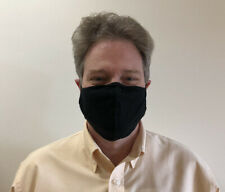 Small Medium Large Extra Large (Xl) Black Adult Unisex Face Mask Cotton Washable