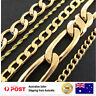 Necklace Chain 18k Rose Yellow GF Gold Solid Curb Rope Figaro Mens Ladies Design