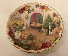 Royal Albert Old Country Roses Magia de la Navidad Placa de Navidad en casa