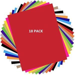 """HTVRONT Heat Transfer Vinyl 17pcs + 1 Teflon Sheets HTV 12""""x10"""" for T-Shirts"""
