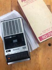 Vintage 1984 Panasonic Portable Cassette Recorder Player Rq-2309A