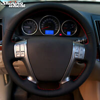 BANNIS Black Leather Car Steering Wheel Cover for Hyundai Vera Cruz IX 55 Veracr
