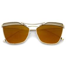 Gafas de sol de mujer marrón cuadrada, con 100% UVA & UVB