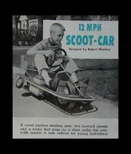 Sidewalk Scooter Car Low Slung 12 volt 1963 HowTo build Plans No Welding