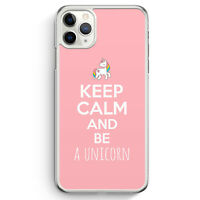 Keep Calm And Be A Unicorn Rosa iPhone 11 Pro Hülle Motiv Design Unicorn Spru...
