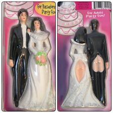 Cake Topper Bride & Groom Bare Butts Wedding Bachelor Bachelorette Anniversary
