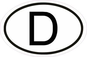 D Aufkleber Länderkennzeichen BRD Auto Zeichen Oval 17,5x11,5 Schild Deutschland