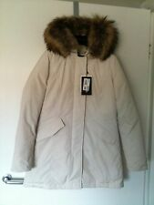 100% Authentique WOOLRICH Lux Arctic Parka Down & Feather Filled Costume UK 8-10