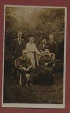 Reading.  Bromo Studios. Family outdoors vintage photo postcard  ga182