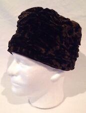 Vintage Crushed Velvet Ladies Hat marked Chapeau Dana Marte Originals