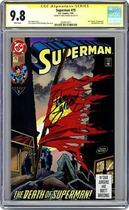 Superman #75D Direct Variant 1st Printing CGC 9.8 SS 1993 2504912011