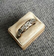 Antique 1945 375 9CT White Yellow Gold Eternity Ring Size L 1/2 Vtg ewellery