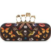Alexander McQueen Obsession Print Knuckle Box Clutch Bag Hummingbird Skull