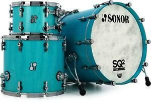 Sonor SQ2 Maple 3-piece Shell Pack - Vintage Azure Semi-Gloss