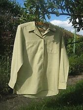 blouse, Viyella, yellow/green, cotton/wool quality, boxy, petite, size 'XS', VGC