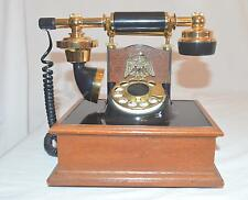 Vintage Rotary Telephone French Style Black  Gold Phone Western Electric Working