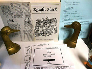 MINIATURE WARGAME RULES Midieval Knight Hack by P Viverito op 1991 VGC