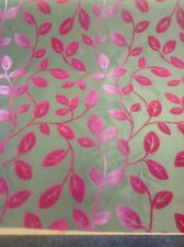 GORGEOUS Faux SILK/TAFFETA, Suede Flock Curtain Fabric By The Metre