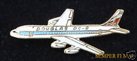 AUTHENTIC DC-8 DOUGLAS COMMERCIAL AIRPLANE HAT PIN AIRLINER LONG BEACH CA WOW