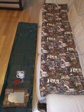 Fabric Teddy Bear Shower Curtain Set