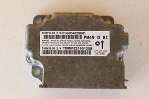 2010 Dodge Caliber P56054200AF SRS Safety Restraint System Control Module Unit