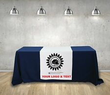 Custom Table runner - 2' x 5' for tradeshow exhibition conference brand visible
