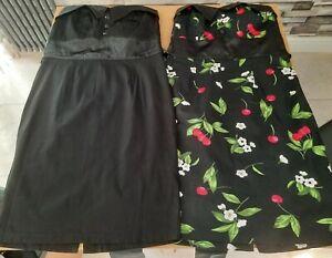 2 x Ladies 1950's Slimfit Dresses Size 12 uk