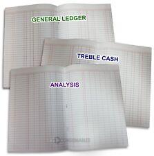 A4 40 Page Accounts Books: Treble Cash / 7 Column Analysis / General Ledger.