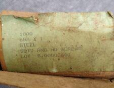 6BA Steel Screws  Slotted Round head ...... QTY 50