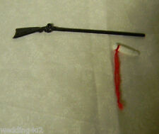 "Mini Miniature Gun Rifle Powder Horn ~2 Psc~ 4 1/4"" Long Dollhouse Crafts Toy"
