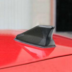 1x Car Accessories Carbon Fiber Shark Fin Roof Antenna Radio AM/FM Signal Aerial