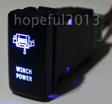 12V Blue LED WINCH POWER Push Button Switch For Toyota Prado Hilux Landcruiser