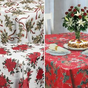 Traditional Fashion Christmas Design Floral Tablecloth Table Covers Dining Décor
