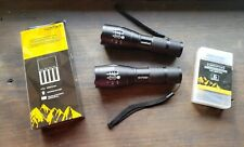 2 Lumitact G700  LED Tactical Flashlights + Rechargeable Batteries & Charger
