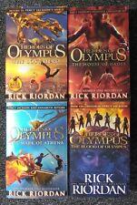 Heroes of Olympus Rick Riordan Percy Jackson Series 4 Paperback Books Bundle