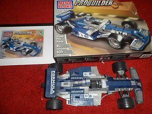 RARE BUILT MEGA BLOKS PRO-BUILDER - Grand Prix Racer, 435 PCS, 3706, 8+
