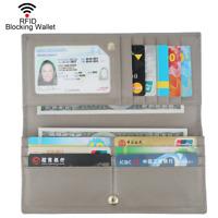 Dante Women RFID Blocking Ultra Slim Real Leather Wallet-Clutch